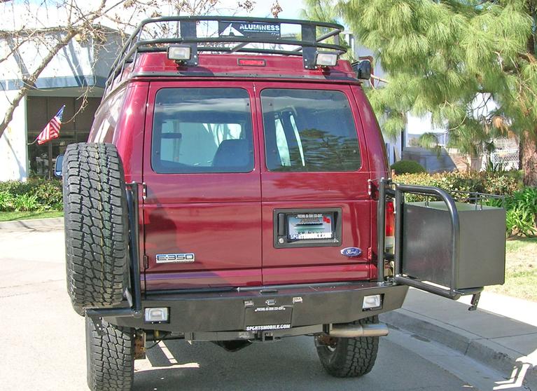 Aluminess 210005 1 Rear Bumper Ford E Series 1992 2013
