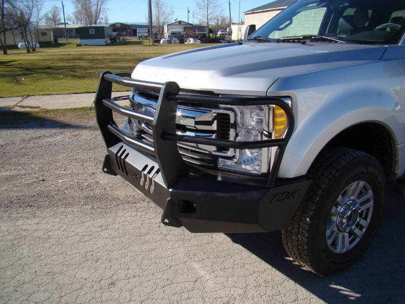Throttle Down Kustoms BGRIL1717F Front Bumper with Grille ...