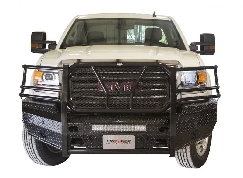 Frontier gear 300 31 5006 front bumper light bar compatible gmc frontier gear frontier gear 300 31 5006 front bumper with sensor holes light aloadofball Choice Image