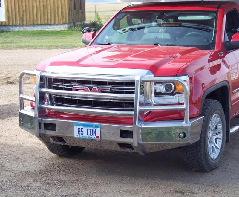truck defender aluminum front bumper gmc sierra 1500 2014 2015. Black Bedroom Furniture Sets. Home Design Ideas