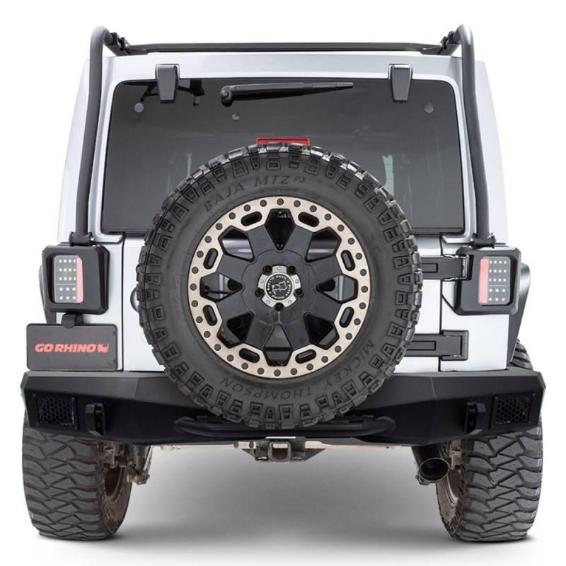 Go Rhino 371210t Rockline Full Width Rear Bumper Jeep Wrangler Jk 2007 2018
