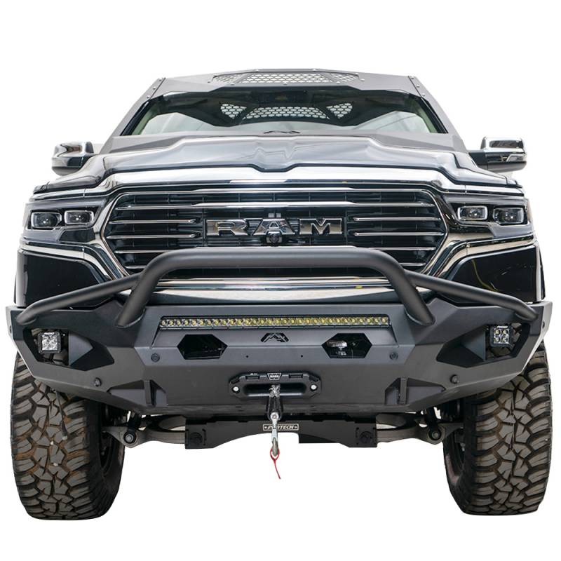 fab fours dr19 x4252 1 matrix front bumper with pre runner guard and sensor holes for dodge ram 1500 2019 2020 bumper superstore fab fours dr19 x4252 1 matrix front bumper with pre runner guard and sensor holes for dodge ram 1500 2019 2020