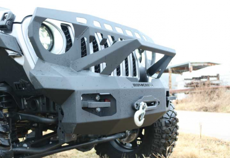iron cross gp-1400 full front bumper with guard for jeep