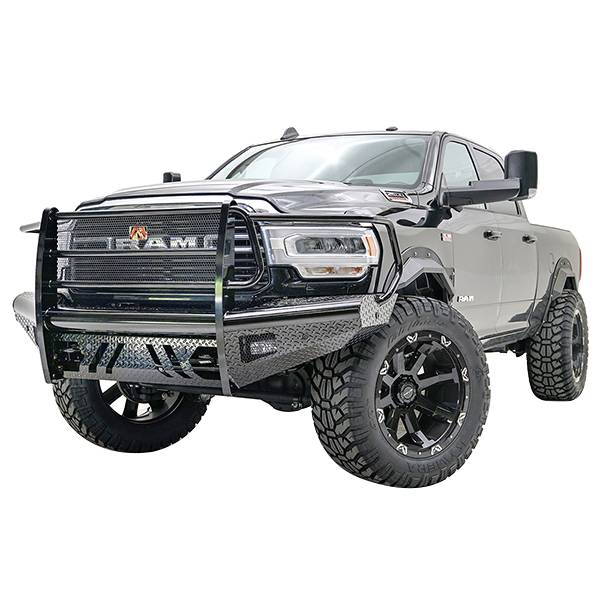 Truck Bumpers - Fab Fours Black Steel