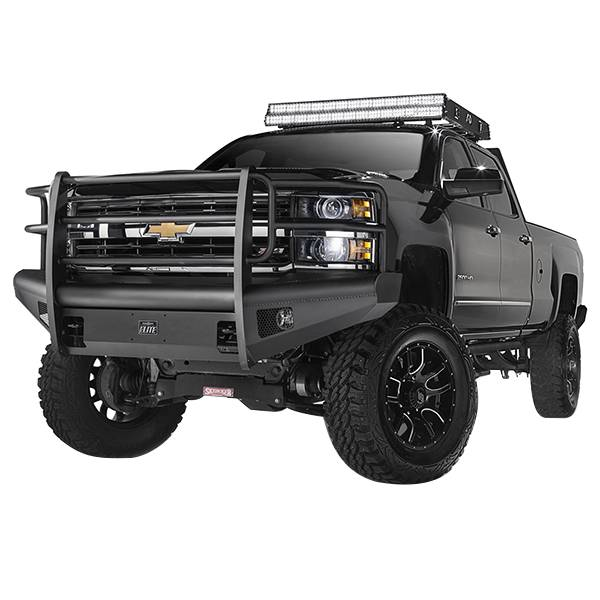 Truck Bumpers - Fab Fours Black Steel Elite
