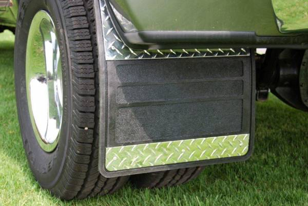 Owens - Chevrolet Diamond Plate Dually Mud Flaps
