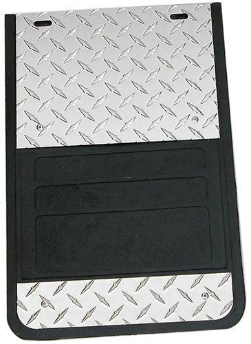 Owens - Universal Fit Diamond Plate Truck Mud Flaps
