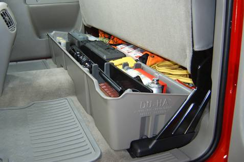 Truck interior storage truck fridges bumpersuperstorecom for Car interior storage solutions