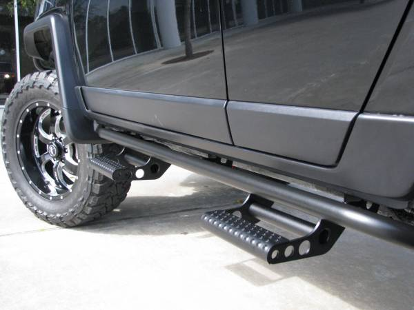 N Fab Rock Rails & Detachable Steps - Toyota