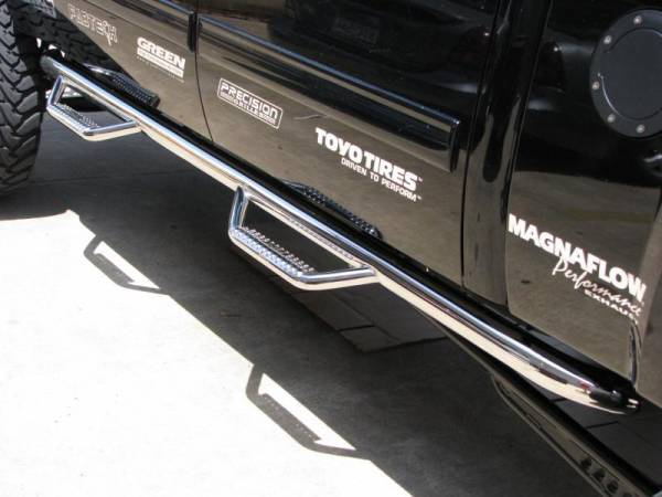 Running Boards and Nerf Bars - N Fab Stainless Steel Nerf steps