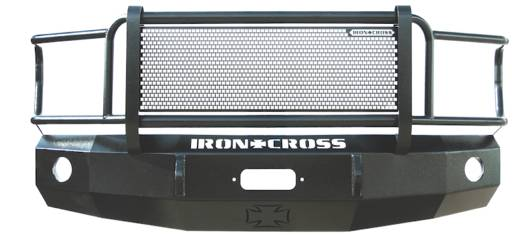 Iron Cross Front Bumper with Full Grille Guard - Ford