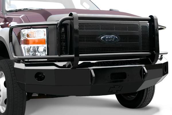 Bumpers - Iron Cross Front Bumper with Full Grille Guard