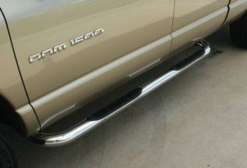 Cab Length Nerf Bars in Stainless steel - Nissan