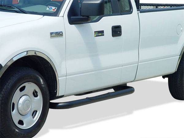 Cab Length Nerf Bars in Black - Ford
