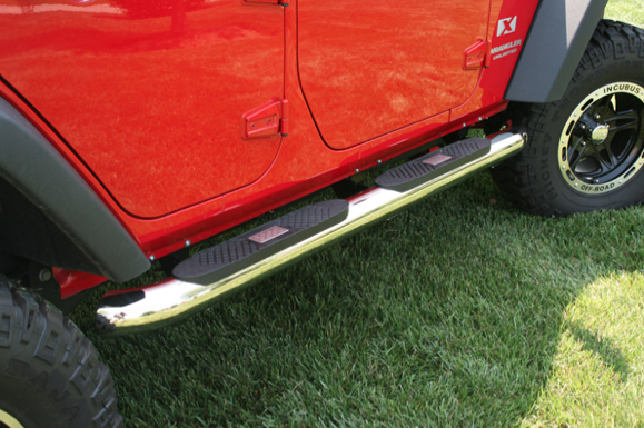 4-Inch Stainless Steel Tube Steps - Dodge
