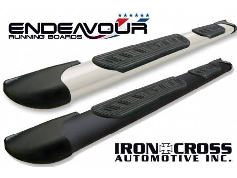 "Running Boards and Nerf Bars - Iron Cross Endeavour Running Boards | 5"" Wide Step Bars"