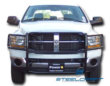 Truck Grill Guard >> Steelcraft 52020 Black Grille Guard Dodge Ram 1500 (1994-2001)