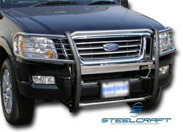 steelcraft 51140 black grille guard ford explorer 4 door. Black Bedroom Furniture Sets. Home Design Ideas
