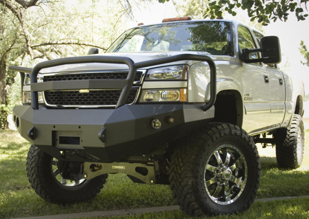 Front Winch Bumper with Full Grille Guard - Chevy