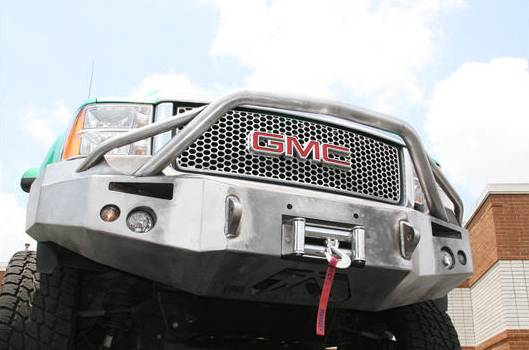 Front Winch Bumper with Pre-Runner Bar - GMC