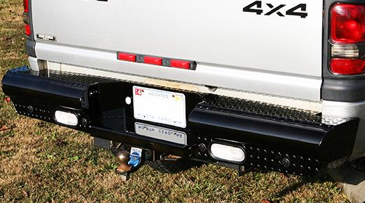 Fab Fours Black Steel - Rear Bumpers