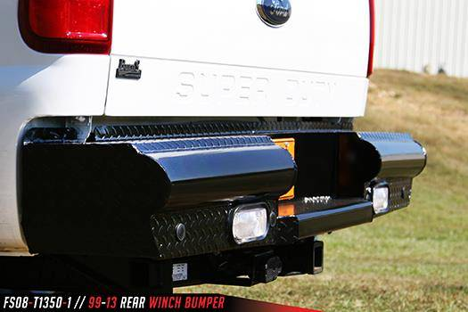 Fab Fours Fs08 T1350 1 Black Steel Rear Bumper Ford F250