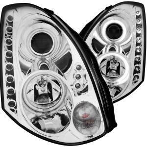 Anzo USA - Anzo USA 121364 Projector Headlight Set w/Halo