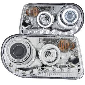 Anzo USA - Anzo USA 121250 Projector Headlight Set w/Halo