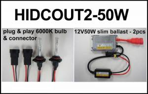Eagle Eye Lights - Eagle Eye Lights HIDCOUT2-50W 2012 Can Am Outlander 50W HID Upgrade Kit