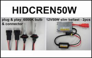 Eagle Eye Lights - Eagle Eye Lights HIDCREN50W 2007-2012 Can Am Renegade 50W HID Upgrade Kit