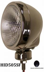 "Eagle Eye Lights - Eagle Eye Lights HID505SF 4 31/32"" Stainless Steel 35W Internal Ballast HID Flood Clear Round HID Off Road Light with ABS Cover Each"