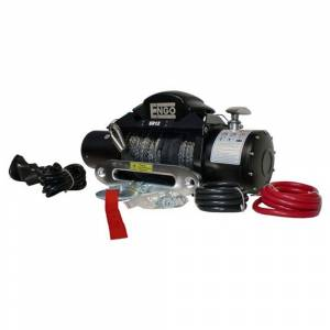 ENGO Winch - ENGO 77-12000PFS EPF12000S 12K Premium Finish Winch with Synthetic Rope