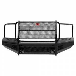 Fab Fours - Fab Fours GM11-S2860-1 Black Steel Front Bumper Full Grille Guard GMC 2500HD/3500 2011-2014