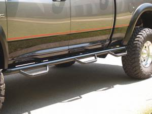 "N-Fab - N-Fab D10103CC-6 Bed Access Nerf Steps Dodge Ram 2500/3500 Crew Cab 4 Door 6'4"" Bed 2010-2013"
