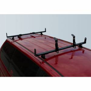 "Vantech - Vantech J2015B Black Rack System with 65"" Cross Bars Black Aluminum Drilling Required"