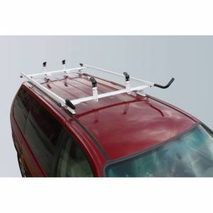 "Vantech - Vantech J4015W White Rack System 65"" Cross Bars and 72"" Side Rails White Aluminum Drilling Required"