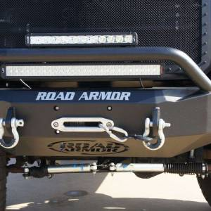Road Armor - Road Armor 611R4B Front Stealth Winch Bumper with Square Light Holes + Pre-Runner Bar Ford Super Duty 2011-2015