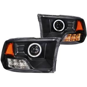 Anzo USA - Anzo USA 111159 Projector Headlight Set w/Halo