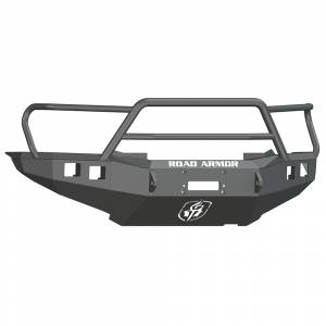 Road Armor - Road Armor 905R5B Front Stealth Winch Bumper with Square Light Holes + Titan II Toyota Tacoma 2012-2015