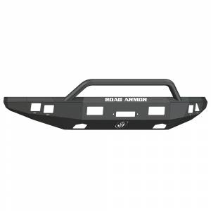 Road Armor - Road Armor 614R4B Front Stealth Winch Bumper with Square Light Holes + Pre-Runner Bar Ford Raptor 2010-2014