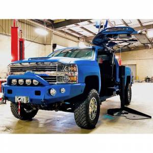 Trail Ready - Trail Ready 10701P Winch Front Bumper with Prerunner Guard Chevy Silverado 2500HD/3500 2007-2010