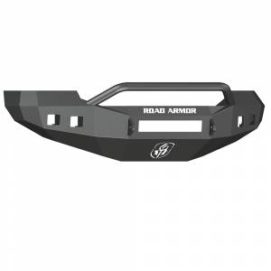 Road Armor - Road Armor 605R4B-NW Front Stealth Non-Winch Bumper with Square Light Holes + Pre-Runner Bar Ford Super Duty 2005-2007