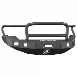 Road Armor - Road Armor 613R5B Front Stealth Winch Bumper with Square Light Holes + Lonestar Guard Ford F150 2009-2014