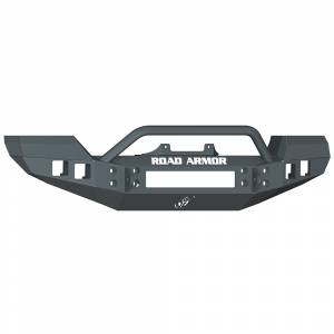 Road Armor - Road Armor 512R4B Front Bumper with Pre-Runner Bar + Square Light Holes Jeep Wrangler JK 2007-2016