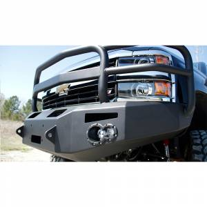 Fab Fours - Fab Fours CH14-A3050-1 Winch Front Bumper with grille guard Chevy 2500/3500HD 2015-2016
