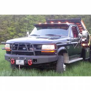 Hammerhead Bumpers - Hammerhead 600-56-0067 Winch Front Bumper with Full Grille Guard Ford F150/F250/F350 1992-1996