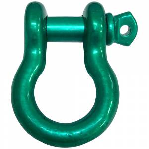 "Iron Cross - 3/4"" Shackles Candy Green Pair"