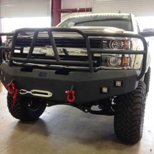 Hammerhead Bumpers - Hammerhead 600-56-0277 Winch Front Bumper with Full Grille Guard and Sensor Holes Chevy Silverado 2500HD/3500 2015-2017
