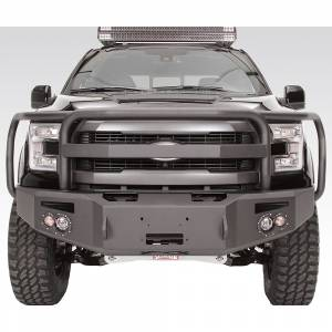 Fab Fours - Fab Fours FF15-H3250-1  Winch Front Bumper with Grille Guard Ford F150 2015-2016