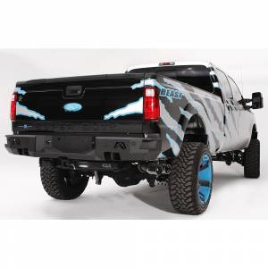 Fab Fours - Fab Fours FS08-W1351-1 Premium Rear Bumper with Sensors Ford Super Duty 1999-2016
